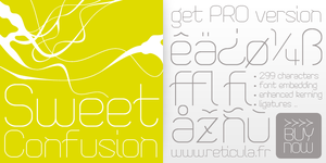 Sweet Confusion Font by reticula-fr