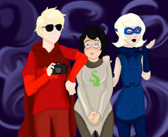 Dave Strider Selfie Feat. John's Hot Mom and Roxy by heybay101