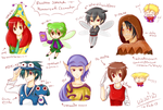 [Sketch] Humanized Rayman Characters 1 by noirjung