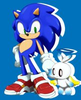 sonic and chao by shoppaaaa
