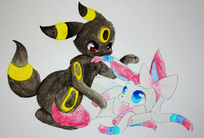 Umbreon Used Bite! by honrupi
