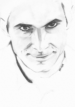 Anthony Perkins WIP by laurahutton