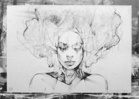 Graphite on Paper by ART-BY-DOC
