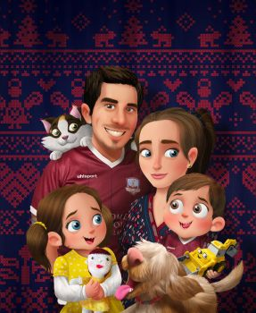 Family Christmas Portrait 2016 by morganobrienart