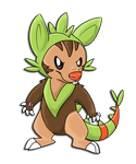Chespin evolution thing by ganbariMASUU