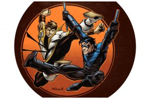 Karate Kid vs Nightwing by spidermanfan2099