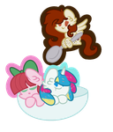The Dessert Ponies By Galaxy Pixies by LiaAqila