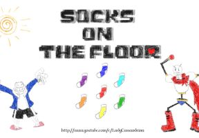 Papyrus and Sans GIF - Socks on the Floor Promo by Cassandrina