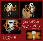 Skeleton Butterfly Plush by Astreum87