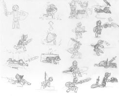 Spiral Knights: Movement/Poses [Doodle/Studie] by Sareth1337