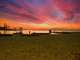 Sunset at English Bay by tt83x