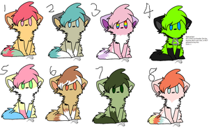 Kitty Adoptables~ [First Batch] [OPEN 5/8] by ZeVariousAdopts