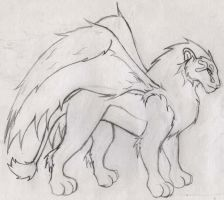 Winged Lion Guardian by Little-Katydid