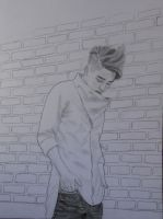 Kyungsoo and the wall by Lienka32