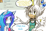 [Ask my Charas] Question 1 and 2- Jake and Shiho by KenotheWolf