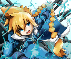 Azure striker Gunvolt by LittleOcean