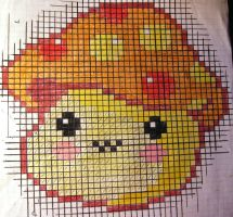 Cross Stitch Mushroom Pattern by thanxforthefish