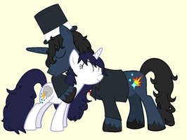 Priscandy and Me as OC of MLP. by Felzm