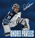 Ondrej Pavelec of the Winnipeg Jets by jeremymazumia