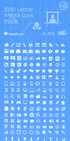 500 Vector Icons - Illustrator Scalable and PNG by eds-danny