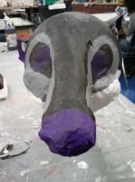 Badger head front view by XNightdreamxDaymareX