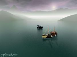Serene Mooring by TheFaceArtiste