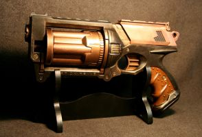 Steampunk Maverick with copper by JohnsonArms