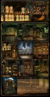 Wizard Shop backgrounds by moonchild-ljilja