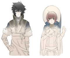 Fire Emblem:  Lon'qu and Ricken by Kialun