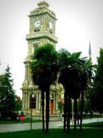 Dolmabahce palace clock tower (Istanbul) by SeiMissTake