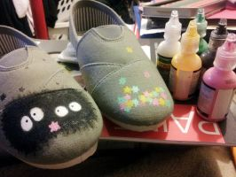Soot Sprites Custom Shoes by Madame-Lemon