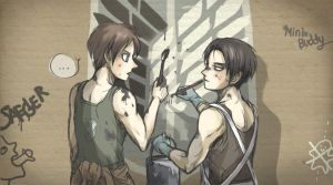 Eren and Levi drawing - AOT by minibuddy