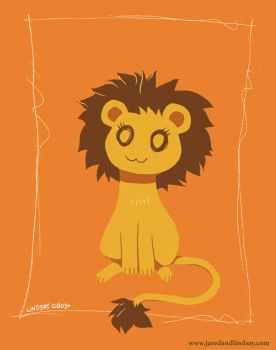 Tiny Lion by peachfuzzmargins
