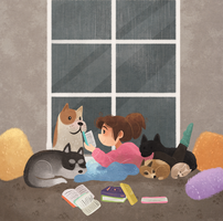 Reading With Friends by morgansketch
