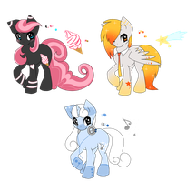 My little pony adoptions auction batch 1 by snowflake95