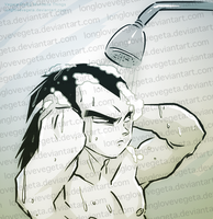 Vegeta Doing Mundane Things: Shampooing by longlovevegeta