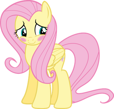 Fluttershy shyful blushing by Pilot231