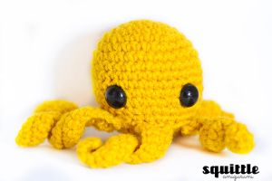 NEW yellow octopus by candypow
