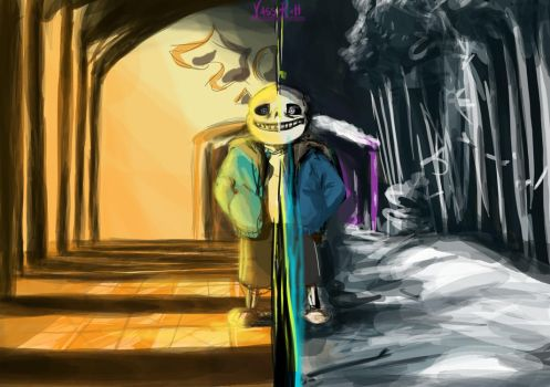 Alley and Hallway: First and Last Sans by Vass-RieH