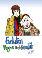 Evolution Rogue and Gambit by IsisConstantine