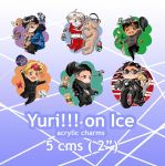 Yuri on Ice Charms by kamapon