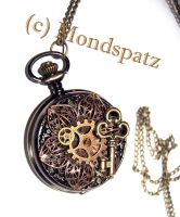 Steampunk flower pocket watch by Hyo-pon
