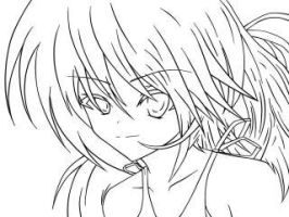 Anime Girl LineArt by crocrus