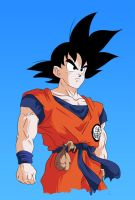 Goku DBZ colors by PetarMKD