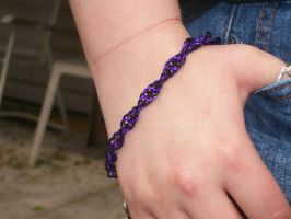 Black + Purple Spiral Bracelet by CjiadonBast