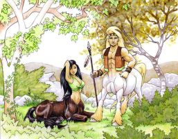 Centaurs in the Sycamores by Dustmeat