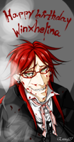 Grell Sutcliff - Jack the Ripper (for Helina) by Eninaj27