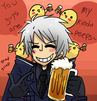 chicks and beer by despairhaus
