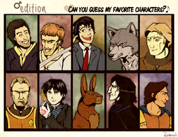 Can you guess my favourite (male) characters meme by rainhowlspl