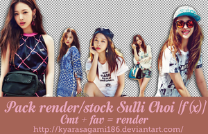 Pack Render/PNG + Stock Sulli F(x) by Kyra by KyaraSagami186